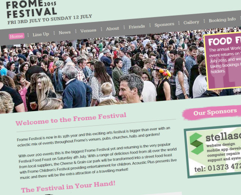 Frome Festival Website